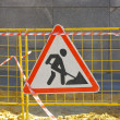 Road works sign — Stock Photo #12563552