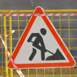 Road works sign — Stock Photo #12684101