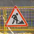 Road works sign — Stock Photo #12754247