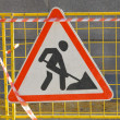Road works sign — Stock Photo #12803886