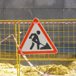 Road works sign — Stock Photo #12883363