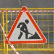 Road works sign — Stock Photo #13307362