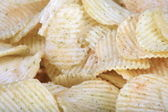 Many of potato chips horizontal texture — Stock Photo