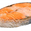 Steak of Salmon Isolated - Stok fotoğraf