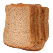 Stock Photo: Dark Bread Isolated