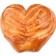 Stock Photo: Twist Bun with Heart Shape