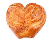 Twist Bun with Heart Shape — Stock Photo