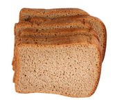 Dark Bread Isolated — Stock Photo