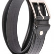 Stock Photo: Leather Belt Strap Isolated