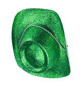 Groene carnaval hoed, geïsoleerd — Stockfoto