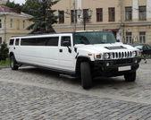 White wedding limousine — Stock Photo
