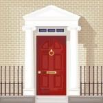 Vintage porte d'entrée — Vecteur