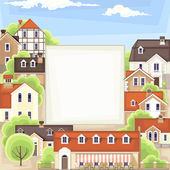 Old town background — Stock Vector