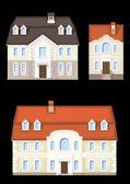 House ,vector set — Stock Vector