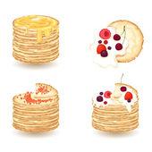 Vector set of pancake ,maslenitsa — Stock Vector