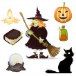 Stock Vector: Halloween clipart , set of icons