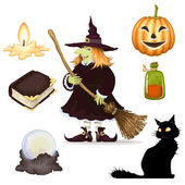 Halloween clipart , set of icons — Stock Vector