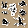 Halloween clipart , vector set — Stock Vector