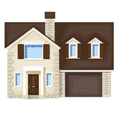 House , vector without gradient — Stock Vector