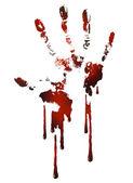 Bloody handle print — Stock Vector