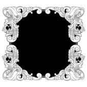 Vintage frame , vector drawing — Stock Vector
