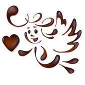Chocolate angel , vector — Stock Vector