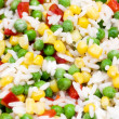 Stock Photo: Close up of rice with vegetables.