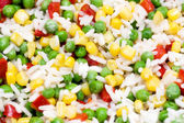 Close up of rice with vegetables. — Stock Photo