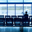 The waiting room at the airport — Stock Photo
