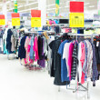 Stock Photo: Clothes sale in supermarket
