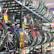 Stock Photo: Bikes in shop