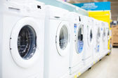 Washing machine at the supermarket — Stock Photo