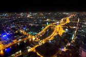 Noc miejskich panoramę miasta, ho chi minh city, wietnam — Zdjęcie stockowe