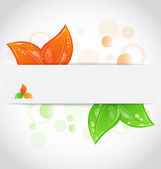 Autumn seasonal nature background with changing leaves — Stock Vector