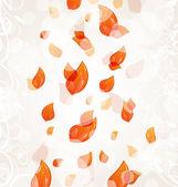 飞秋橙树叶背景 — 图库矢量图片