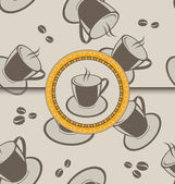 Seamless background with coffee cups for design packing — Stock Vector