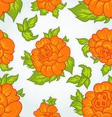 Fundo sem costura flor bonita — Vetorial Stock