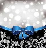 Christmas floral background, ornamental design elements — Stock Vector