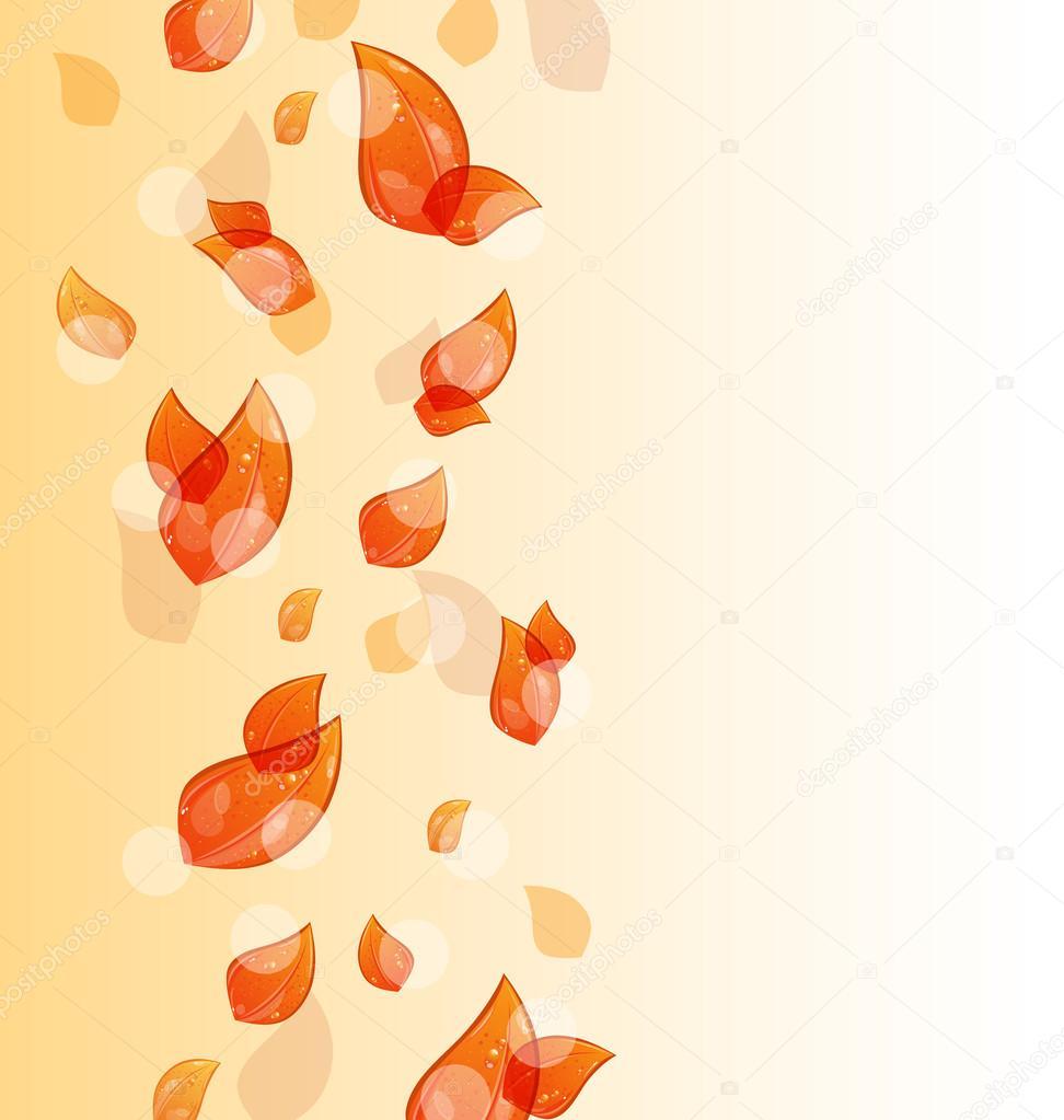 飞秋橙树叶背景 — 图库矢量图像08