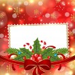 Greeting elegant card with Christmas decoration — Imagen vectorial