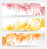 Set floral templates with changing autumnal colors — Stock Vector