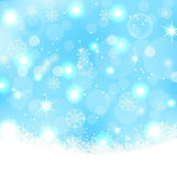Christmas abstract background with snowflakes, stars — Stock Vector