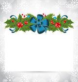 Elegant julkort med semester dekoration — Stockvektor