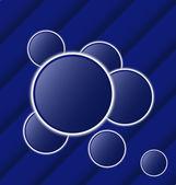 Conjunto abstractas bolas como burbujas de discurso — Vector de stock