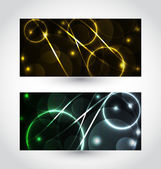 Set of abstract futuristic cards — Stock Vector