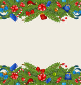 Christmas elegance background with holiday decoration — Stock Vector