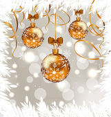 Shimmering background with Christmas balls — Stock Vector