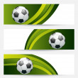 Set football cards with place for your text — Stock Vector