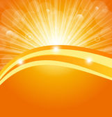 与太阳光线抽象背景 — 图库矢量图片