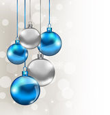 Holiday background with Christmas balls — Vector de stock